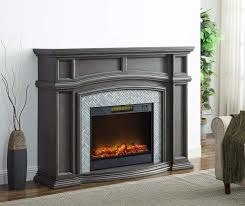 62 grand gray electric fireplace at