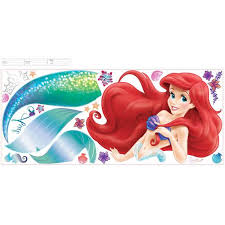 Rmk2360gm The Little Mermaid Ariel Giant Wall Decal Us Wall Decor