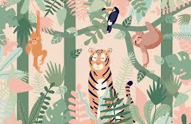 Kids Animals Jungle Wallpaper Murals Wallpaper