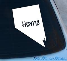 Nevada Decal State Decal Home Decal Nv Sticker Love Etsy