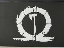 God Of War Inspired Vinyl Decal Kratos Axe Etsy