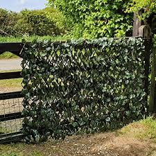 True Products Artificial Maple Ivy Expanding Willow Trellis Garden Fence Balcony Screening Amazon Co Uk Garden Outdoors