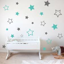 Two Colors Cartoon Star Wall Sticker Kids Baby Room Decoration Girls Boys Home Decor Vinyl Wall Decals Beauty Decals Ly1612 Wall Stickers Aliexpress
