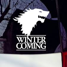 Winter Is Coming Wolf Game Of Thrones Car Sticker Decorative Decal Wish