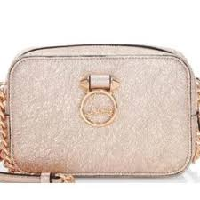 womens rubylou mini rose gold leather