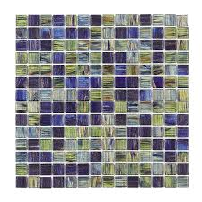 x 12 in x 4 mm glass mosaic wall