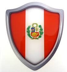 Peru Flag Shield Domed Decal 3d Look Emblem Resin Car Sticker 2 6 X3 Ushirika Coop