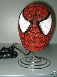 Lamp Light Marvel Red Spiderman Kids Decor Boys Room 37403100