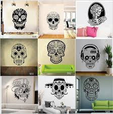 Mexican Sugar Skull Wall Stickers Vinyl Scared Skull Wall Sticker Decal Adesivo De Parede Home Decor Home Art Wall Decals Home Decal From Fst1688 11 59 Dhgate Com