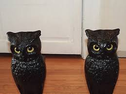 set cast iron owl fireplace andirons w
