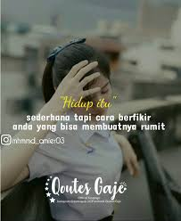 quotes gaje `` hidup itu simple😎 follow quotesgaje id