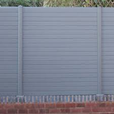 Graphite Eco Fencing Boards Maintenance Free Fencing Recycled Upvc Fencing