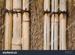 Japanese Garden Fence Made Twigs Bamboo Stock Photo Edit Now 26062708