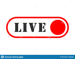 Live Streaming Flat Vector Illustration Icon Symbol. With Red Button For  News, Radio, TV Or Online Broadcasting. Isolated On White Stock Vector -  Illustration of player, button: 182721344