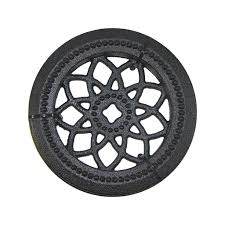 Nuvo Iron Acw60 4 1 2 In Diameter Decorative Round Black Cast Aluminum Wooden Fence And Gate Insert Investments Hardware Limited