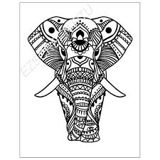 Silk Screen Printing Stencil Decorated African Elephant For