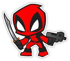 Deadpool Cartoon Superhero Logo Bumper Phone Laptop Sticker As11120