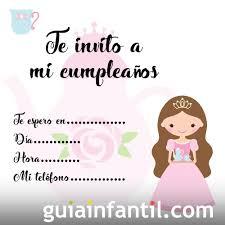 Invitaciones De Cumpleanos Con Dibujos De Princesas