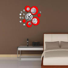 Removable Vinyl Wall Stickers Art Decals Red Circle Around Sticker Home Decoration Clock My Aashis