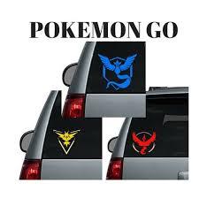 Pokemon Go Team Logo Valor Mystic Instinct Car Decal Etsy