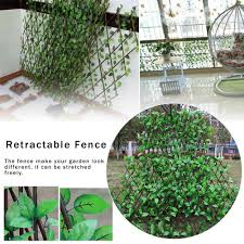 New Garden Fence Decoration Privacy Wood With Artificial Green Leaf Retractable Extension Fencing Home Countyard 40cm Height Aliexpress