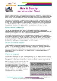 hair beauty job info sheet jan 12 pdf