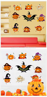 Sk6073 Nursery Kawaii Wall Decal Cartoon Cute Halloween Pumpkin Sticker View Pumpkin Sticker Sk Product Details From Zhejiang Shenao Technology Co Ltd On Alibaba Com
