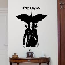 Movie Poster Wall Decal Vinyl Movie Wall Poster Removable The Crow Wall Stickers Home Bedroom Living Room Decor Vinyl Art Ay0209 Wall Stickers Aliexpress