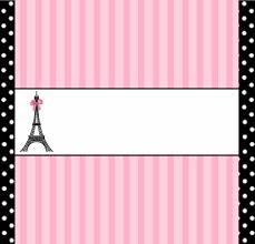 Paris Etiquetas Para Candy Bar Para Imprimir Gratis Ideas Y