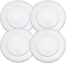 clear glass charger 12 6 inch dinner