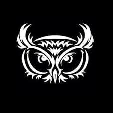 Owl Sticker Owl Tribal Decal A2 Custom Sticker Shop