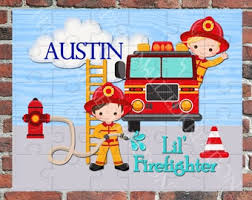 Fireman Kids Room Etsy