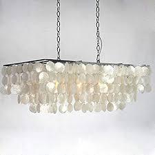 large seashell 3 light chandelier