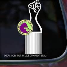 Hair Fist Pick Afro American Black Vinyl Decal Sticker Gorilla Decals
