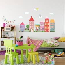 Wall Dressed Up Wall Decals Fabric Reusable Removable Wall Stickers Dollhouse Decal