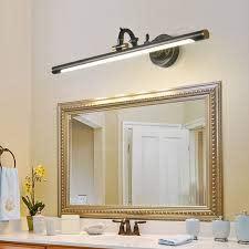 rotatable linear vanity mirror light