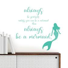 Wall Pops Mermaid Wall Quote Dwpq2384 The Home Depot