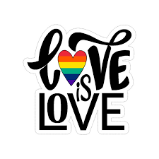 Love Is Love Assorted Lgbt Vinyl Car Decal Sticker Etsy