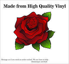 Rose Decal Multiple Sizes Laptop Sticker Outdoor Vinyl Etsy