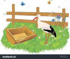 Cartoon Wooden Farm Fence Trough Water Stock Vector Royalty Free 1038541258