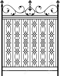 Wrought Iron Gate Door Fence Window Grill Railing Design Royalty Free Cliparts Vectors And Stock Illustration Image 55710581