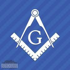 Freemason Logo Vinyl Decal Sticker Templar Masonic Vinyl Decals Vinyl Decal Stickers Decals Stickers