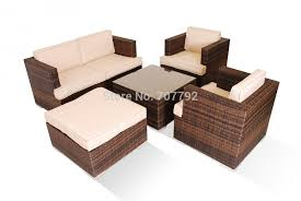 mazenetti 5 pc 2 seater rattan sofa set