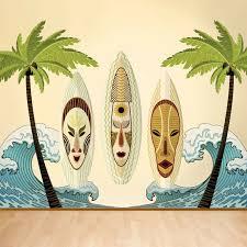My Wonderful Walls Full Tiki Surf 7 Piece Wall Decal Set Wayfair