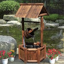 wishing well outdoor water fountain