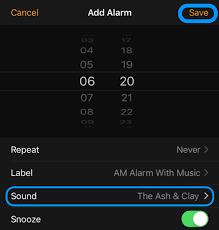 using iphone s clock app