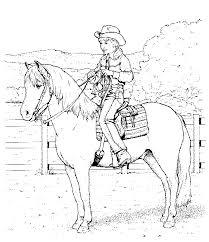 Kleuren Nu Een Cowboy Op Een Paard Kleurplaten