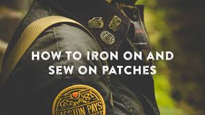How To Apply Iron On Patches And Sew On By Asilda Store Youtube
