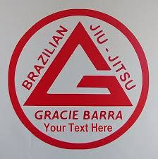 Gracie Barra Jiu Jitsu Custom 5 Vinyl Cutout Decal Window Sticker 7 50 Picclick