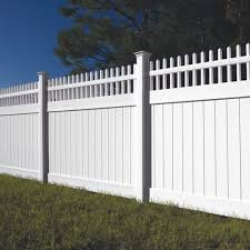 Wakefield 6x8 Open Top Vinyl Fence Kit Vinyl Fence Freedom Outdoor Living For Lowes
